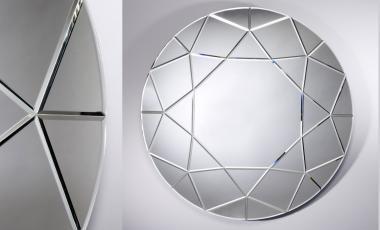 Зеркало DIAMOND ROUND от EKNUDT MIRRORS