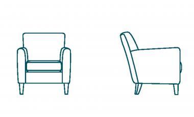 Кресло CONTESSA от JAB