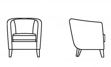 Кресло RONDO от JAB