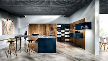 Кухня NX 902 стекло матовое, цвет Indigo